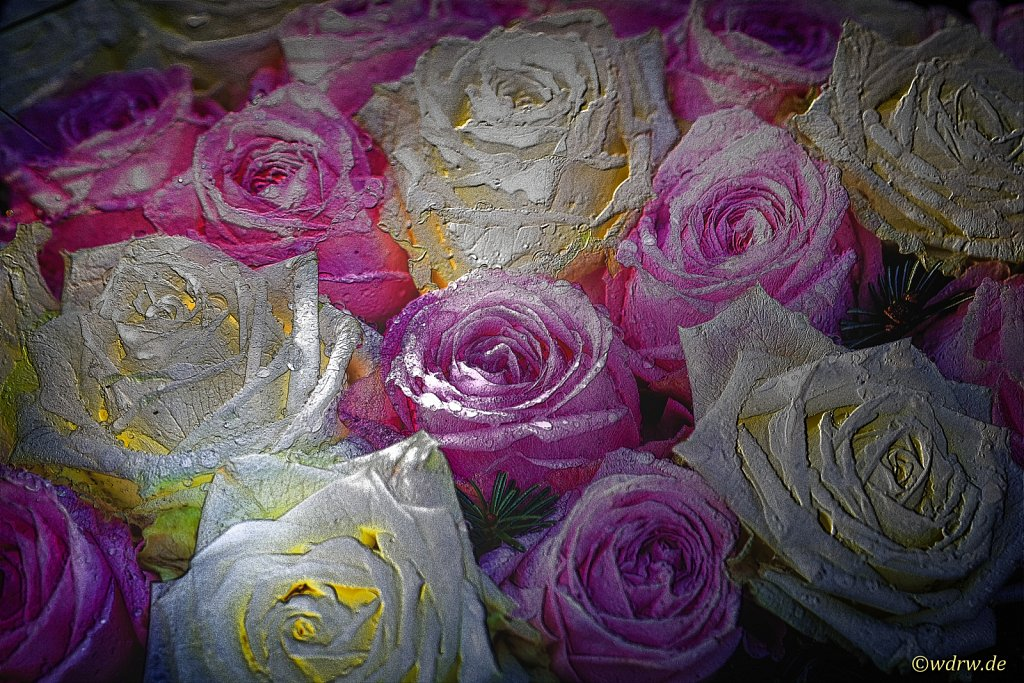 """Digitale Kunst """"Leuchtende Rosen"""""""
